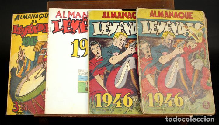 8062 - EDICIONES HISPANO AMERICANAS. 4 ALMANAQUES(VER DESCRIPCIÓN). 1945/1946. (Tebeos y Comics - Hispano Americana - Otros)