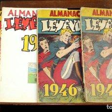 Tebeos: 8062 - EDICIONES HISPANO AMERICANAS. 4 ALMANAQUES(VER DESCRIPCIÓN). 1945/1946.. Lote 62809772