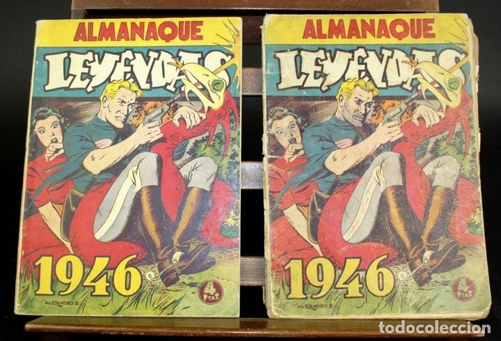 Tebeos: 8062 - EDICIONES HISPANO AMERICANAS. 4 ALMANAQUES(VER DESCRIPCIÓN). 1945/1946. - Foto 5 - 62809772