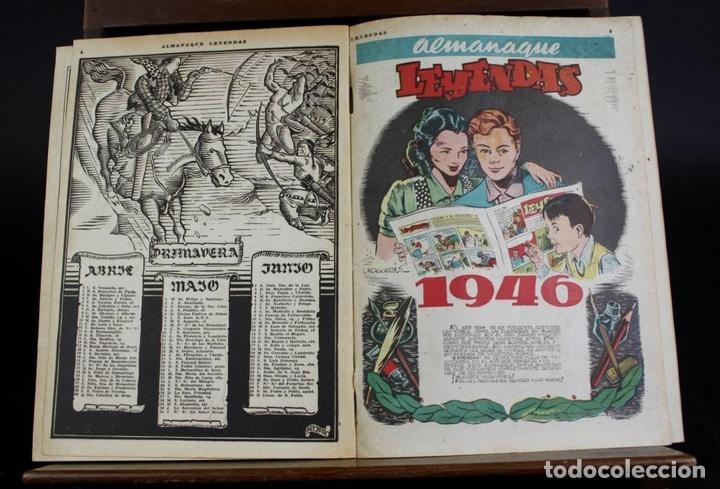 Tebeos: 8062 - EDICIONES HISPANO AMERICANAS. 4 ALMANAQUES(VER DESCRIPCIÓN). 1945/1946. - Foto 6 - 62809772