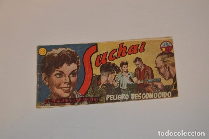 SUCHAI - EL PEQUEÑO LIMPIABOTAS - Nº 59 - MUY ANTIGUO - MIRA LAS FOTOS PARA MÁS DETALLE (Tebeos y Comics - Hispano Americana - Suchai)