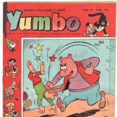 Tebeos: YUMBO ORIGINAL Nº 275 EDI. CLIPER - BILLY Y BUMBLE - NICOTIN - POPEYE - CONEJITO ATÓMICO, - CONCHIT. Lote 64415163