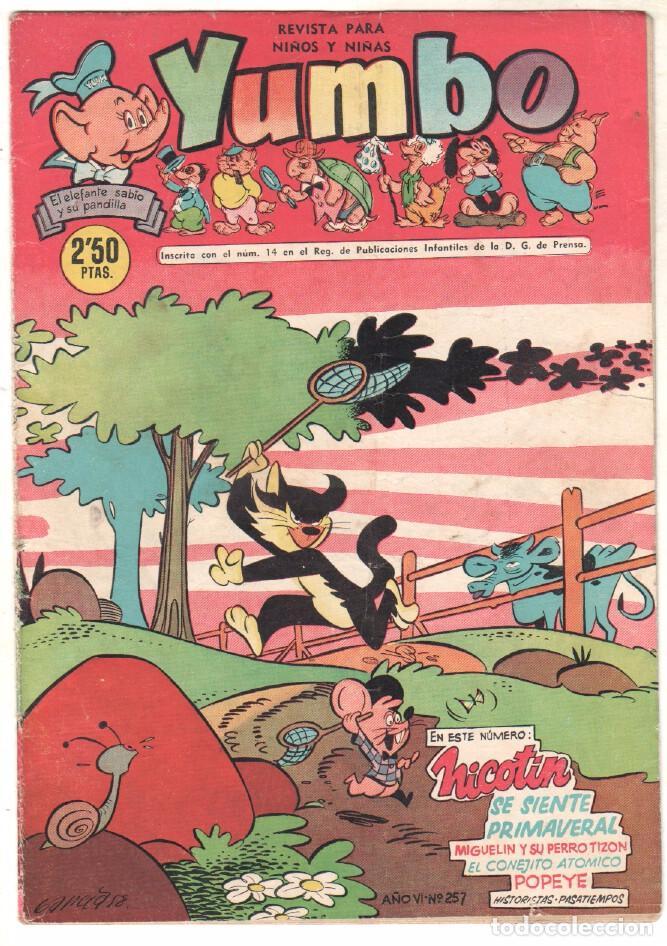 YUMBO ORIGINAL Nº 257 EDI. CLIPER 1958 - POPEYE - BILLY Y BUMBLE - CONEJITO ATÓMICO - NICOTIN- (Tebeos y Comics - Hispano Americana - Yumbo)