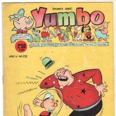 Tebeos: YUMBO ORIGINAL Nº 212 EDI. CLIPER 1958 - POPEYE - NICOTIN - BILLY Y BUMBLE ETC. Lote 64415363