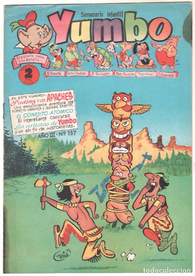 YUMBO ORIGINAL Nº 137 EDI. CLIPER 1958 - CONEJITO ATÓMICO - NICOTÍN - FAUNITO - PUDIN JEFF- PIPO Y T (Tebeos y Comics - Hispano Americana - Yumbo)