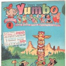Tebeos: YUMBO ORIGINAL Nº 137 EDI. CLIPER 1958 - CONEJITO ATÓMICO - NICOTÍN - FAUNITO - PUDIN JEFF- PIPO Y T. Lote 64415643