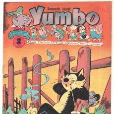 Tebeos: YUMBO ORIGINAL Nº 125 EDI. CLIPER 1958 - CONEJITO ATÓMICO - FAUNITO - MIGUELIN - PIPO Y TEKA -PITUSA. Lote 64415759