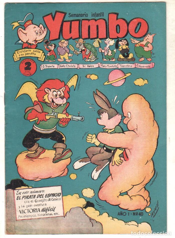 YUMBO ORIGINAL Nº 40 EDI. CLIPER 1958 - NICOTIN - CONEJITO ATÓMICO ETC (Tebeos y Comics - Hispano Americana - Yumbo)