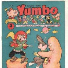 Tebeos: YUMBO ORIGINAL Nº 40 EDI. CLIPER 1958 - NICOTIN - CONEJITO ATÓMICO ETC. Lote 64416055