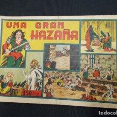 Tebeos: UNA GRAN HAZAÑA - GRAN FORMATO - IRANZO - HISPANO AMERICANA - ORIGINAL - . Lote 65652194
