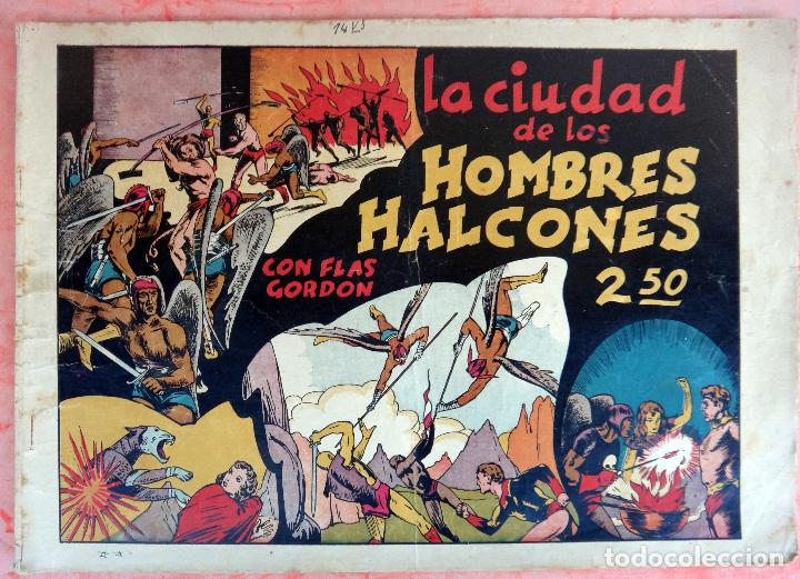 FLAS GORDON , LA CIUDAD DE LOS HOMBRES HALCONES, HISPANO AMERICANA , ORIGINAL , H (Tebeos y Comics - Hispano Americana - Flash Gordon)