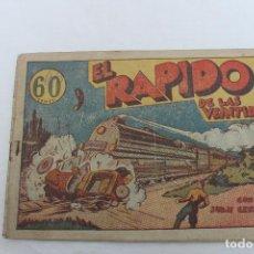 Tebeos: COMIC JUAN CENTELLA, HISPANO AMERICANA, AÑOS 40, EL RAPIDO. Lote 66804758