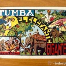Tebeos: TUMBA EL ELEFANTE GIGANTE - CAZANDO FIERAS VIVAS Nº 6 - HISPANO AMERICANA 1941. Lote 67309161