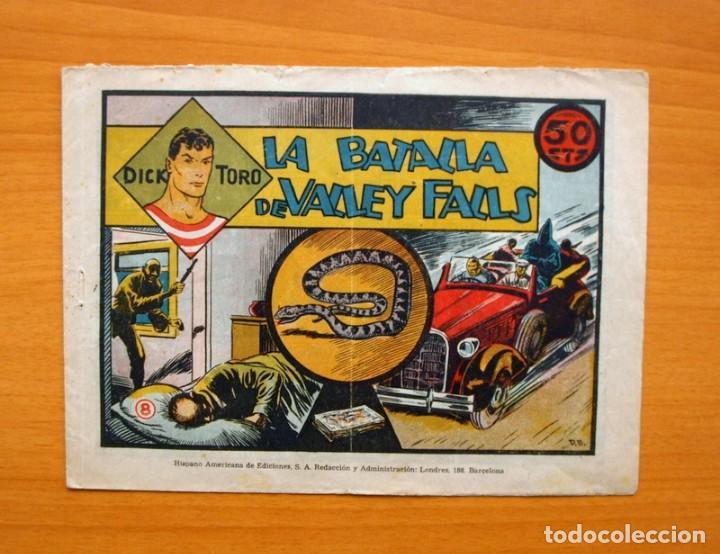 DICK TORO, Nº 8 LA BATALLA DE VALLEY FALLS - EDITORIAL HISPANO AMERICANA 1946 (Tebeos y Comics - Hispano Americana - Otros)