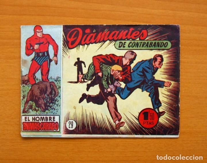 EL HOMBRE ENMASCARADO, Nº 29 DIAMANTES DE CONTRABANDO - EDITORIAL HISPANO AMERICANA 1952 (Tebeos y Comics - Hispano Americana - Hombre Enmascarado)