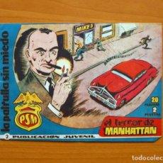 Tebeos: LA PATRULLA SIN MIEDO, Nº 2 EL TERROR DE MANHATTAN - EDITORIAL HISPANO AMERICANA 1961. Lote 67473601
