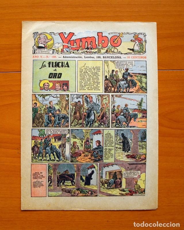 YUMBO, Nº 160 LA FLECHA DE ORO - EDITORIAL HISPANO AMERICANA 1934 (Tebeos y Comics - Hispano Americana - Yumbo)