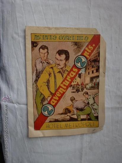 DOS AVENTURAS Nº 27 ORIGINAL (Tebeos y Comics - Hispano Americana - Otros)