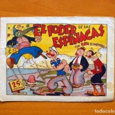 Tebeos: IGA - POPEYE - Nº 11-EL PODER DE LAS ESPINACAS - EDITORIAL HISPANO AMERICANA 1943. Lote 71155749