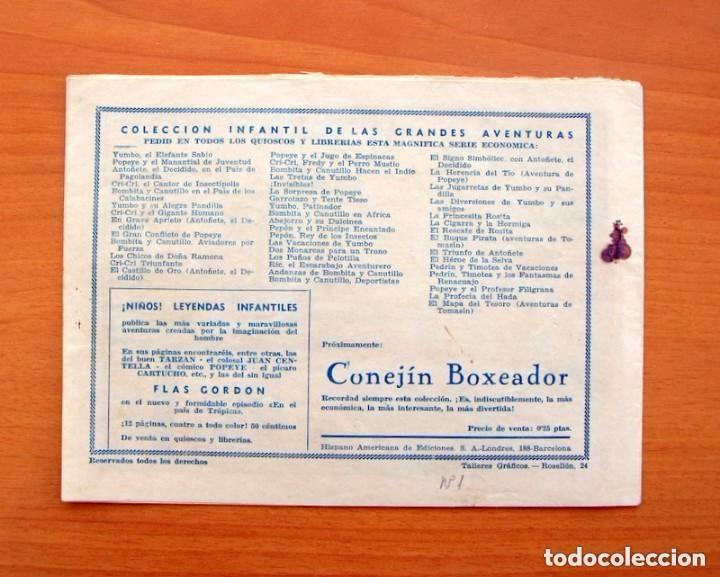 Tebeos: IGA - Conejin - nº 1 - Aventuras de Conejin - Editorial Hispano Americana 1943 - Foto 5 - 71159941