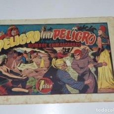 Tebeos: (M1) HOMBRE ENMASCARADO NUM 31 PELIGRO TRAS PELIGRO , HISPANO AMERICANA, SEÑALES DE USO. Lote 71326391