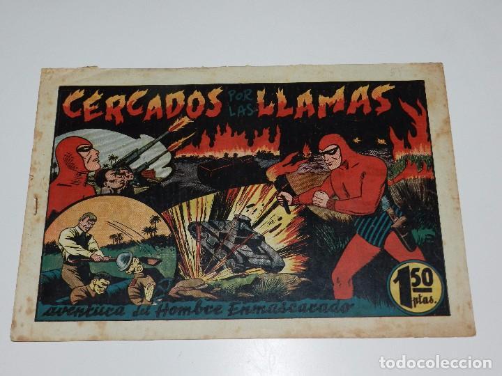 (M1) HOMBRE ENMASCARADO NUM 55 CERCADOS POR LAS LLAMAS , HISPANO AMERICANA, SEÑALES DE USO (Tebeos y Comics - Hispano Americana - Hombre Enmascarado)