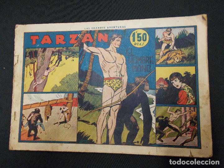 TARZAN - Nº 1 - EL HOMBRE MONO - HISPANO AMERICANA - ORIGINAL - (Tebeos y Comics - Hispano Americana - Tarzán)