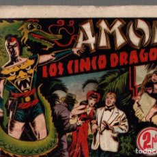 Tebeos: AMOK. LOS CINCO DRAGONES. HISPANO AMERICANA DE EDICIONES. AÑOS 40. Lote 74971487