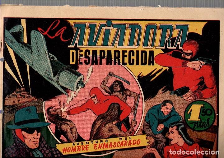 LA AVIADORA DESAPARECIDA. AVENTURA DEL HOMBRE ENMASCARADO. ORIGINAL. AÑOS 40 (Tebeos y Comics - Hispano Americana - Hombre Enmascarado)