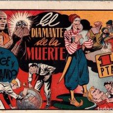 Tebeos: EL DIAMANTE DE LA MUERTE CON JORGE Y FERNANDO. ORIGINAL. AÑOS 40. Lote 76314079