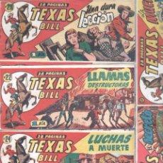 Tebeos: TEXAS BILL ORIGINAL LOTE DE 80 TEBEOS EN MUY BUEN ESTADO - 1949 HISPANO AMERICANA. Lote 78023641