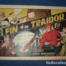 Tebeos: HOMBRE ENMASCARADO 40: EL FIN DE UN TRAIDOR, 1941, MUY BUEN ESTADO. Lote 78350989