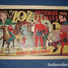 Tebeos: HOMBRE ENMASCARADO 38: Z.O.Z. ARTICULOS RURALES, 1941, MUY BUEN ESTADO. Lote 78519777