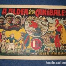 Tebeos: HOMBRE ENMASCARADO 28: LA ALDEA DE LOS CANÍBALES, 1944, BUEN ESTADO. Lote 78545717