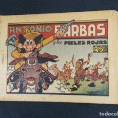 Tebeos: ANTONIO BARBAS Y LOS PIELES ROJAS - JUAN GARCIA IRANZO - HISPANO AMERICANA - ORIGINAL . Lote 80000689