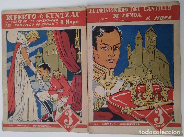 LA NOVELA QUINCENAL. EL PROSIONERO DEL CASTILLO DE ZENDA (Tebeos y Comics - Hispano Americana - Otros)