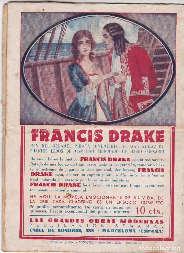 Tebeos: FRANCIS DRAKE. EL CORSARIO MISTERIOSO. COLECCIÓN 53 EJEMPLARES. HISPANO AMERICANA 1935.(Leer) - Foto 2 - 81133452
