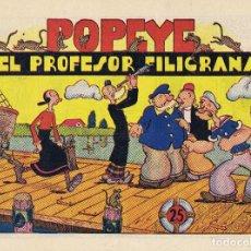 Tebeos: POPEYE Y EL PROFESOR FILIGRANA.. Lote 81936428