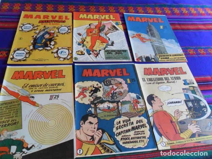 MARVEL NºS 1 2 3 4 5 6. HISPANO AMERICANA 1949 1,25 PTS. CAPITÁN. CON NYOKA. ORIGINALES NUEVOS RAROS (Tebeos y Comics - Hispano Americana - Capitán Marvel)