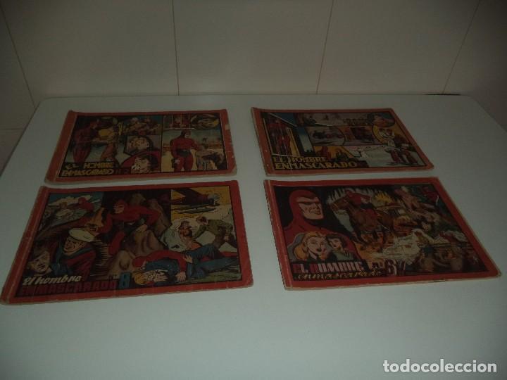 EL HOMBRE ENMASCARADO ALBÚM ROJO, AÑO 1.942 TENGO LOS Nº 2 - 3 - 6 - 8. SON ORIGINALES HISPANO AMERI (Tebeos y Comics - Hispano Americana - Hombre Enmascarado)