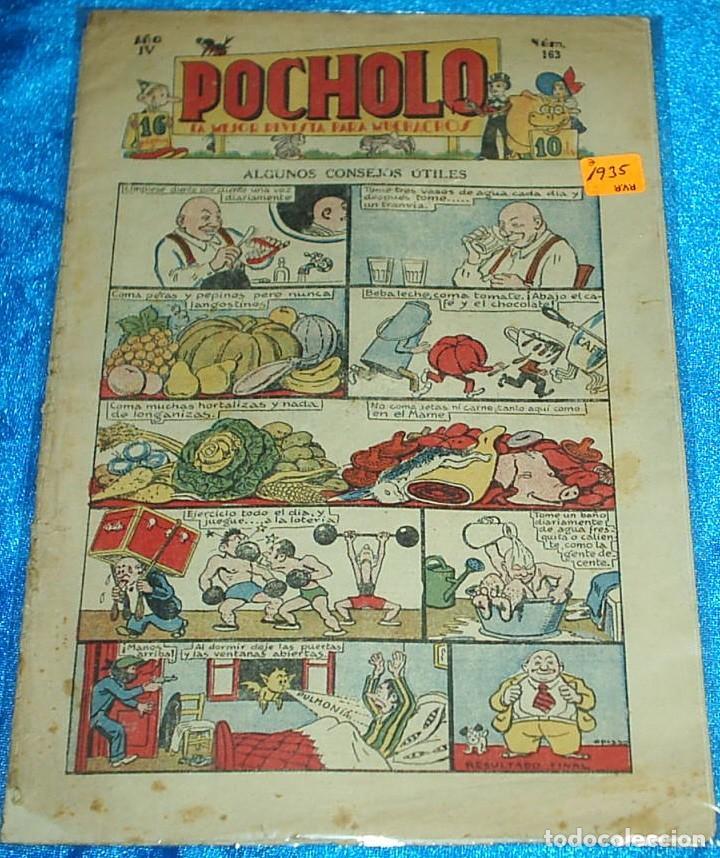 POCHOLO AÑO IV Nº 163 - H.AMERICANA 1935 - ORIGINAL EN BUEN ESTADO- LEER TODO (Tebeos y Comics - Hispano Americana - Otros)