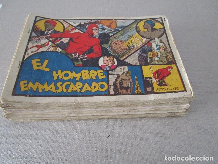 Tebeos: COLECCION EL HOMBRE ENMASCARADO LOTE ORIGINAL 1941 - Foto 2 - 84397800