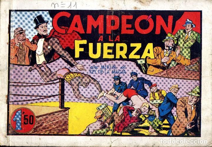 Tebeos: MERLIN HISPANO AMERICANO EDICIONES AÑO 1942 ORIGINALES COMPLETA 45 NºS ARCON PASILLO - Foto 2 - 84603668