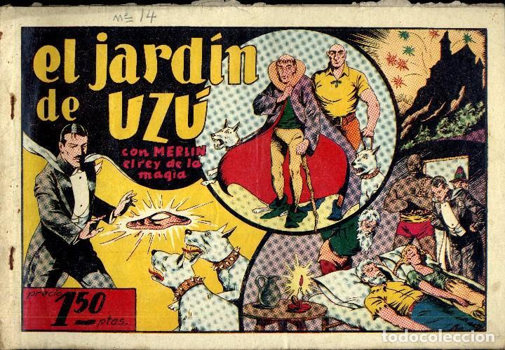 Tebeos: MERLIN HISPANO AMERICANO EDICIONES AÑO 1942 ORIGINALES COMPLETA 45 NºS ARCON PASILLO - Foto 4 - 84603668
