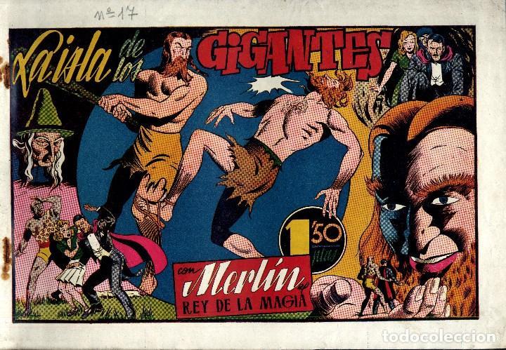Tebeos: MERLIN HISPANO AMERICANO EDICIONES AÑO 1942 ORIGINALES COMPLETA 45 NºS ARCON PASILLO - Foto 5 - 84603668