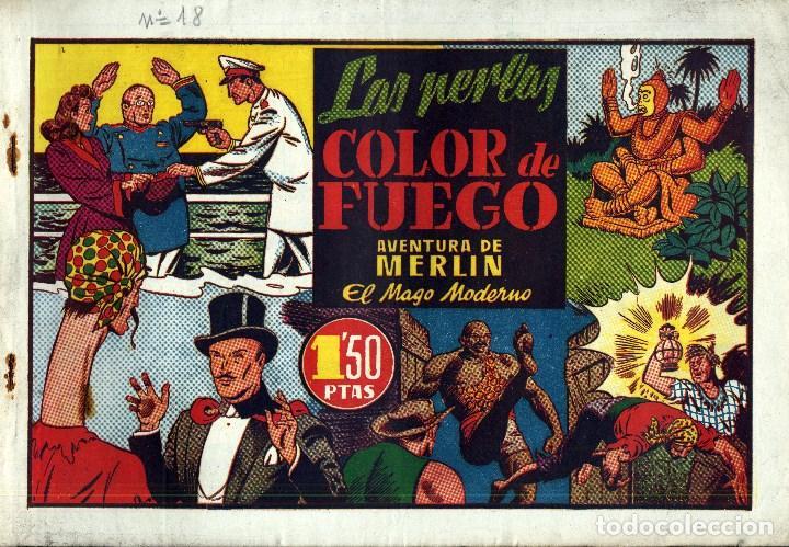 Tebeos: MERLIN HISPANO AMERICANO EDICIONES AÑO 1942 ORIGINALES COMPLETA 45 NºS ARCON PASILLO - Foto 6 - 84603668