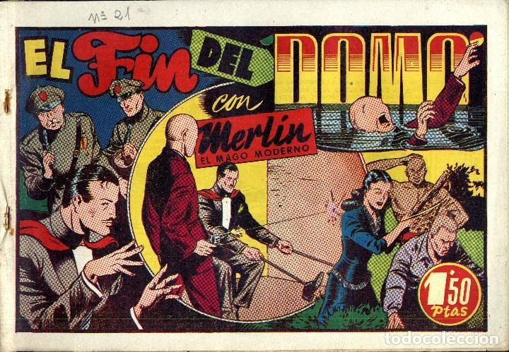 Tebeos: MERLIN HISPANO AMERICANO EDICIONES AÑO 1942 ORIGINALES COMPLETA 45 NºS ARCON PASILLO - Foto 7 - 84603668
