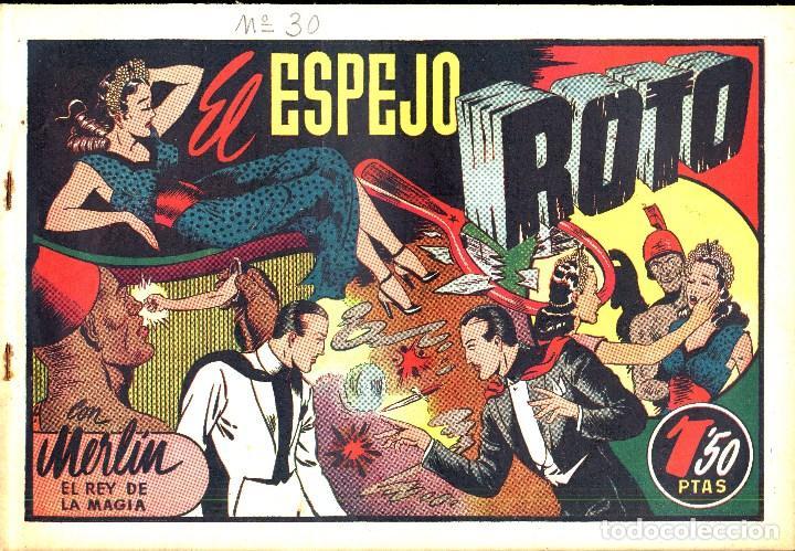 Tebeos: MERLIN HISPANO AMERICANO EDICIONES AÑO 1942 ORIGINALES COMPLETA 45 NºS ARCON PASILLO - Foto 9 - 84603668