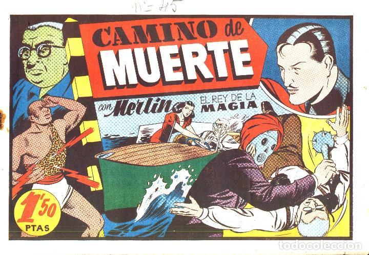 Tebeos: MERLIN HISPANO AMERICANO EDICIONES AÑO 1942 ORIGINALES COMPLETA 45 NºS ARCON PASILLO - Foto 12 - 84603668