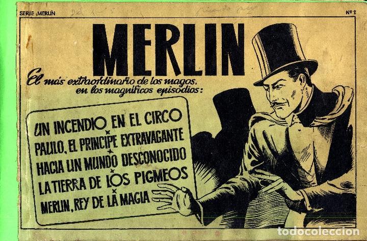 Tebeos: MERLIN HISPANO AMERICANO EDICIONES AÑO 1942 ORIGINALES COMPLETA 45 NºS ARCON PASILLO - Foto 14 - 84603668
